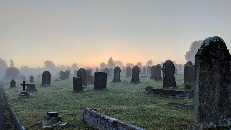 A traditional cemetery in the UK