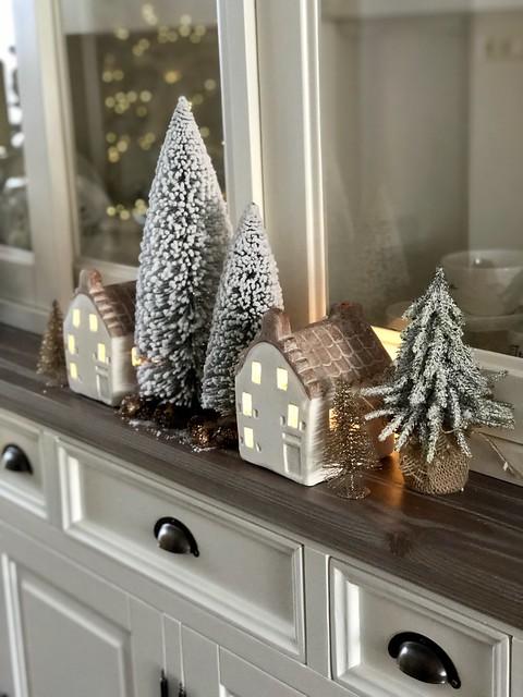 Riviera Maison kersthuisjes kerstboompjes