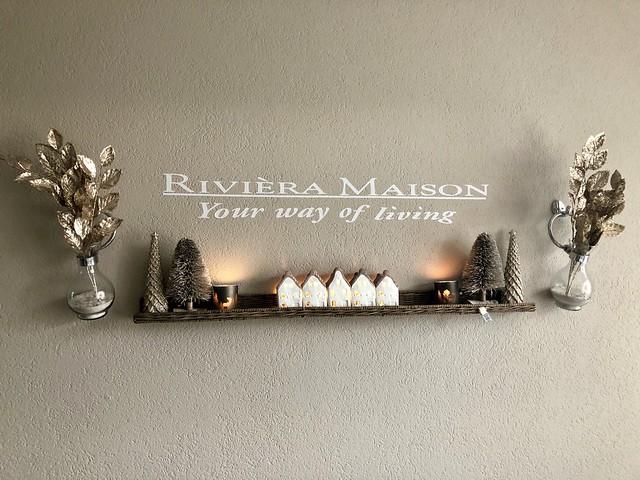 Riviera Maison muurdecoratie kerst