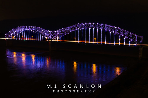 arkansas bluffcity capture dark digital downtown hernandodesotobridge image impression landscape lights memphis mississippiriver mojo night outdoor perspective photo photograph photographer photography picture scanlon tennessee ©mjscanlon ©mjscanlonphotography