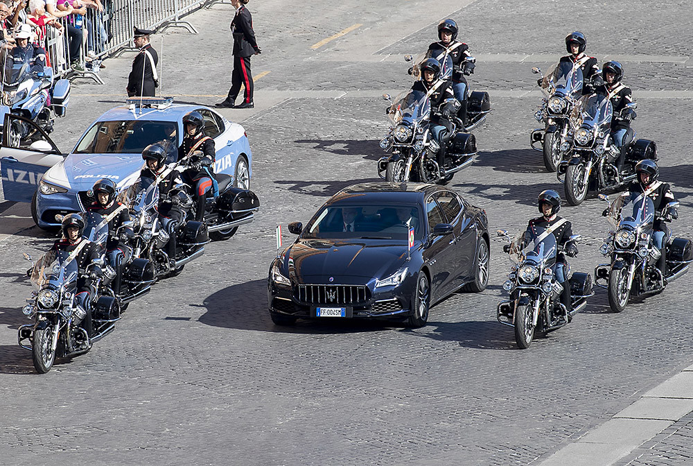 Maserati Quattroporte 6th generation - Italian President Sergio Mattarella - Republic Day - 2 June 2019_02