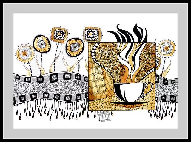 Zentangle inspired art & collage