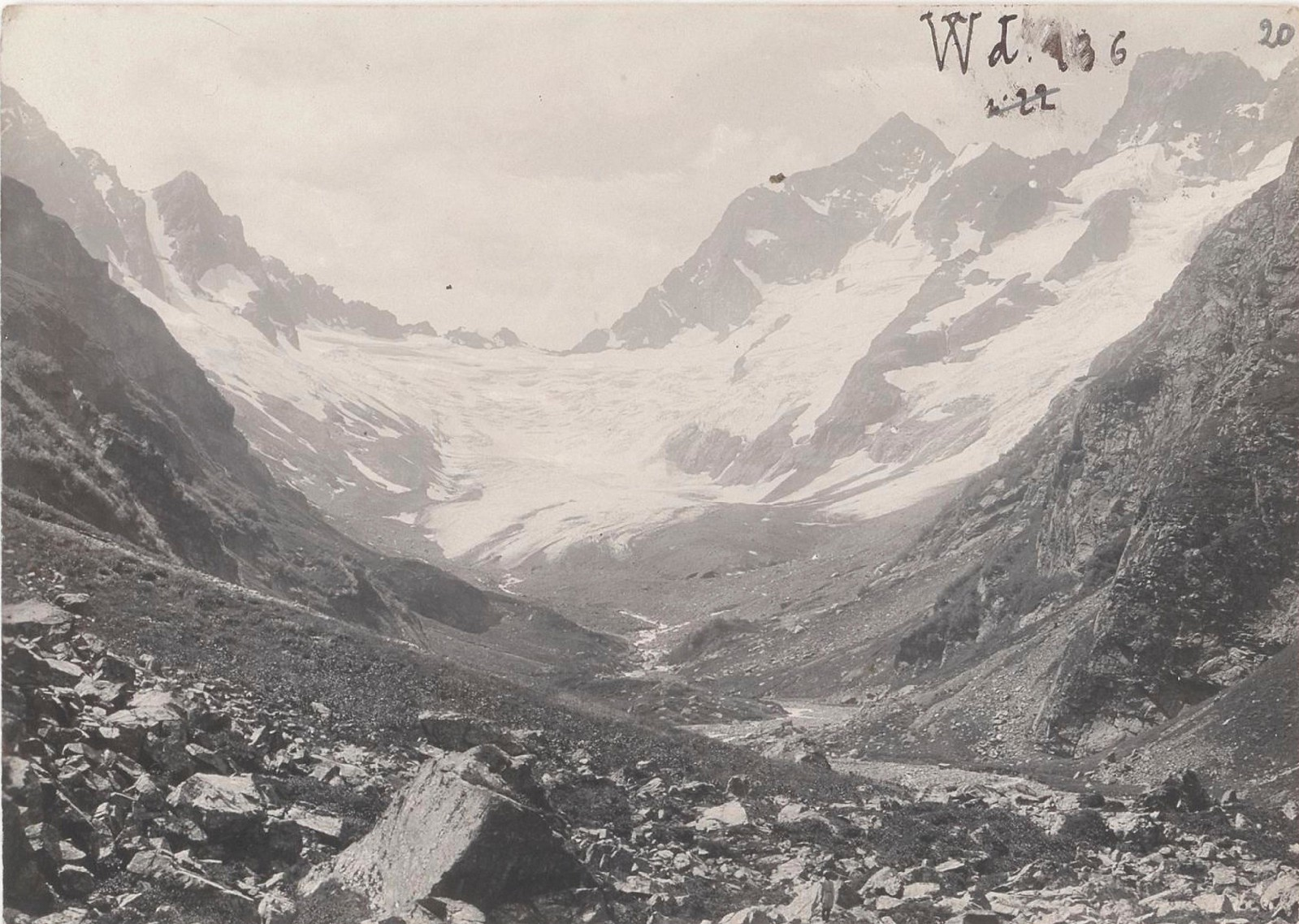 20. Западный Кавказ. Ледник Домбай-Ульген, август 1898