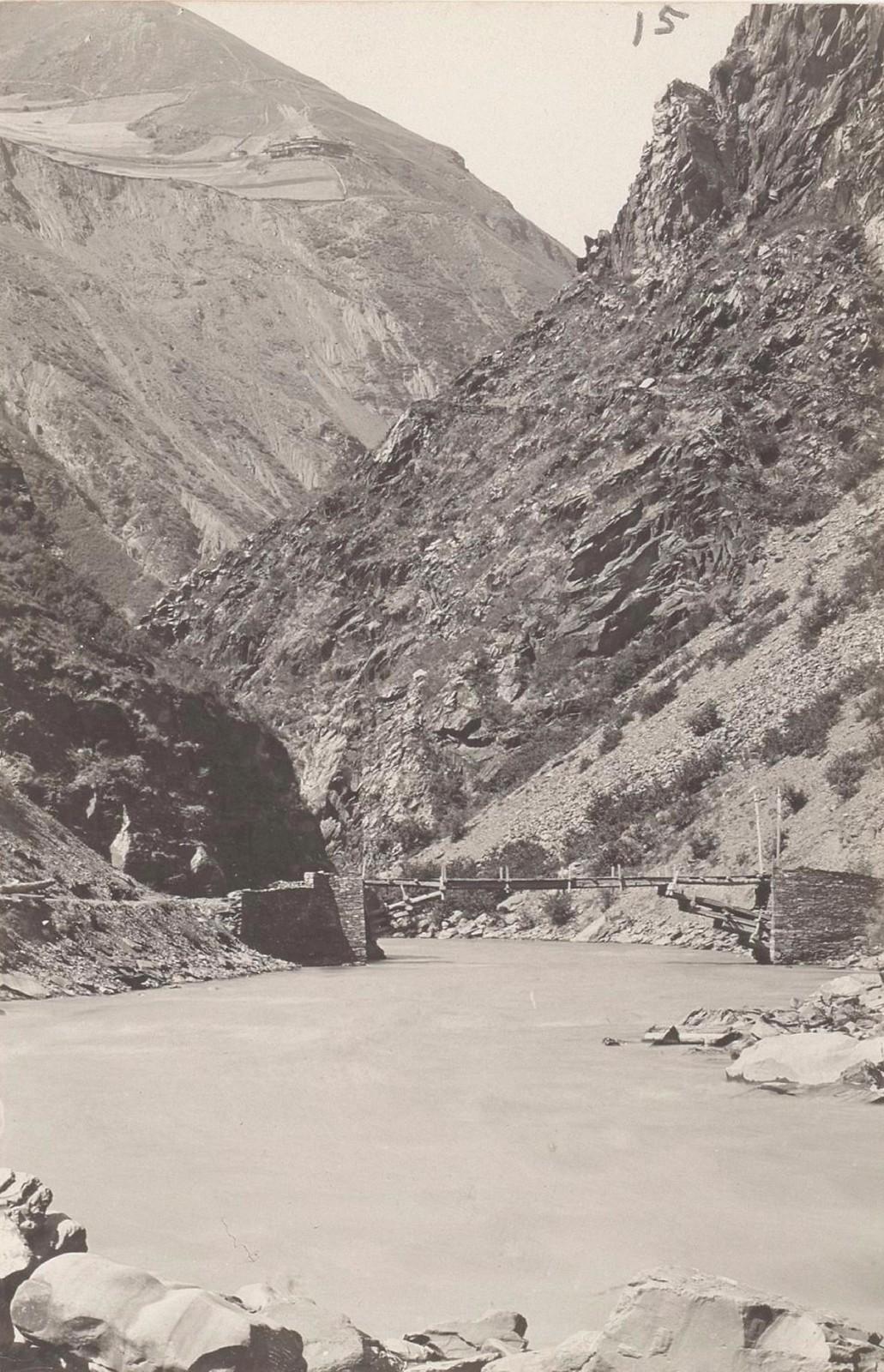 15. Восточный Кавказ. Дагестан. Мост Солти на реке Андийское Койсу, август 1898