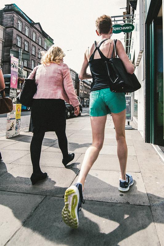 Street Photography - Unfair Race - Edinburgh
