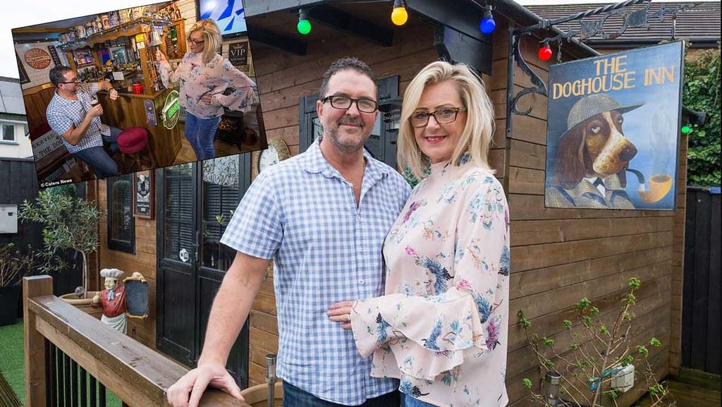 Англичанка построила для мужа домашний паб в доме