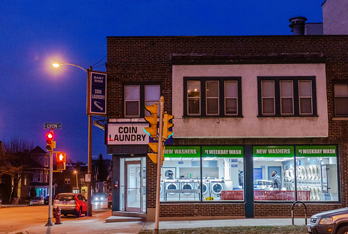 Eastside Coin Laundry at Twilight