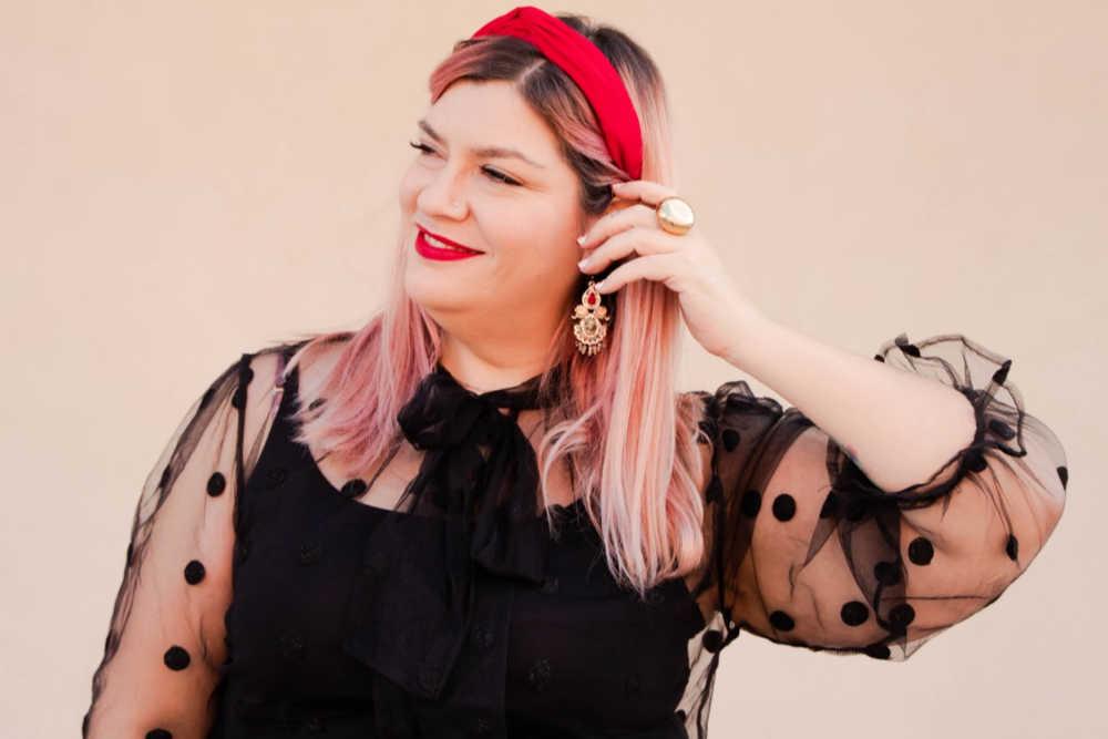 Outfit plus size curvy rosso e nero (9)