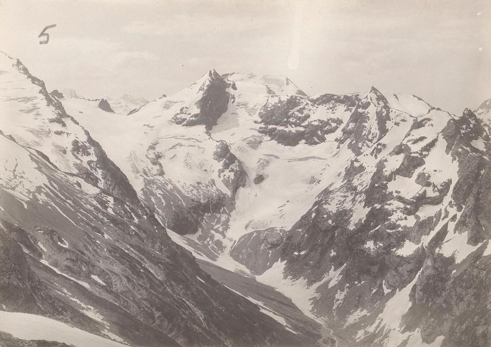 07. Западный Кавказ. Вид на юг от перевала Гандари, июль 1898