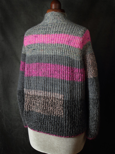 Back view of Flaum cardigan