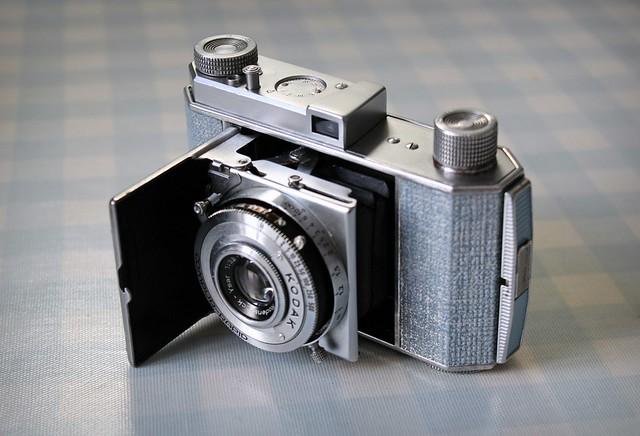 Camera of the Day - Custom Blue and Silver Retina Type 010 with Rodenstock Ysar lens