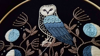 Owl embroidery kit by Jenny Blair | by floresita
