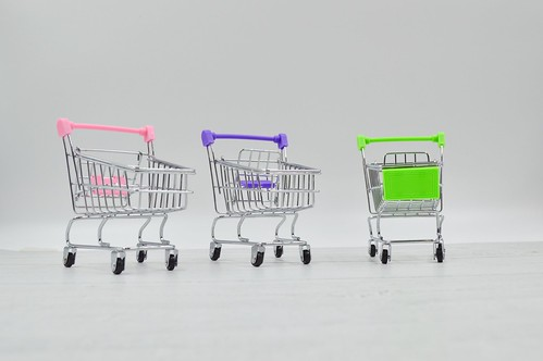 Shopping trolleys - 3 Shopping Carts (Creative Commons) | by microbizmag