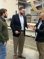 Rep. Davis went on a business tour of DESCO's millwork workshop.