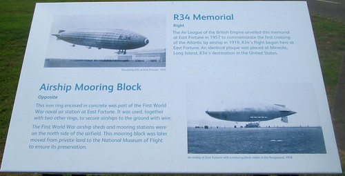R34 Information Board, National Museum of Flight
