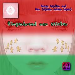 !cream spaghetti hair! Gingerbread man sticker AD
