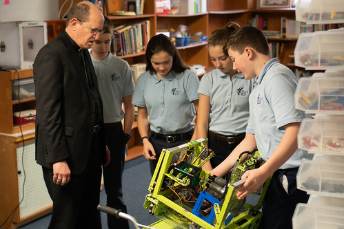 Bishop Walkowiak visits St. Mary Catholic School in Big Rapids