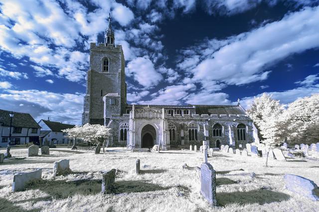 A ghostly churchyard