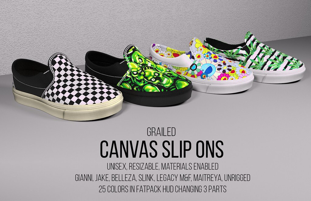 Canvas Slip Ons