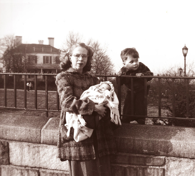 Joyce Griffin, Eileen Griffin, & Me in front of Gracie Mansion -- 1948