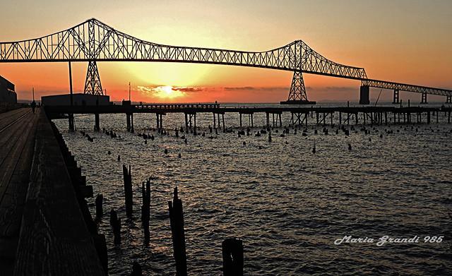 Astoria Bridge with Sunset Light - N2