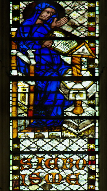Sat, 08/16/2014 - 09:08 - 1325-39 stained glass depicting St Jerome - St Ouen, Rouen France 16/08/2014