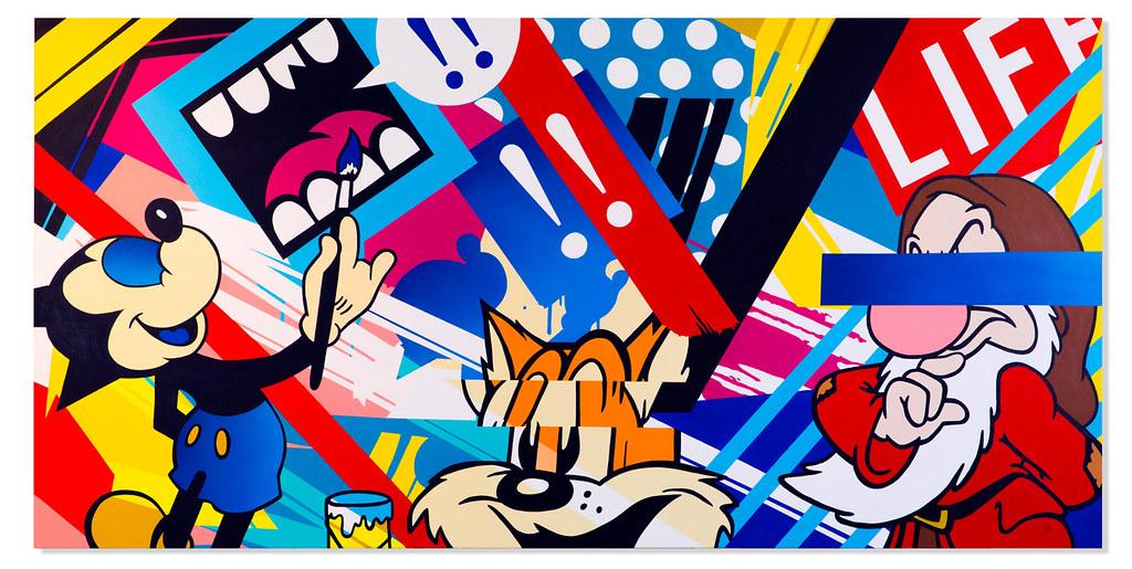 結合搞怪塗鴉風!SoapStudio X Greg Mike《湯姆貓與傑利鼠》湯姆貓與傑利鼠 設計師聯名雕像(AM012 Tom &Jerry)