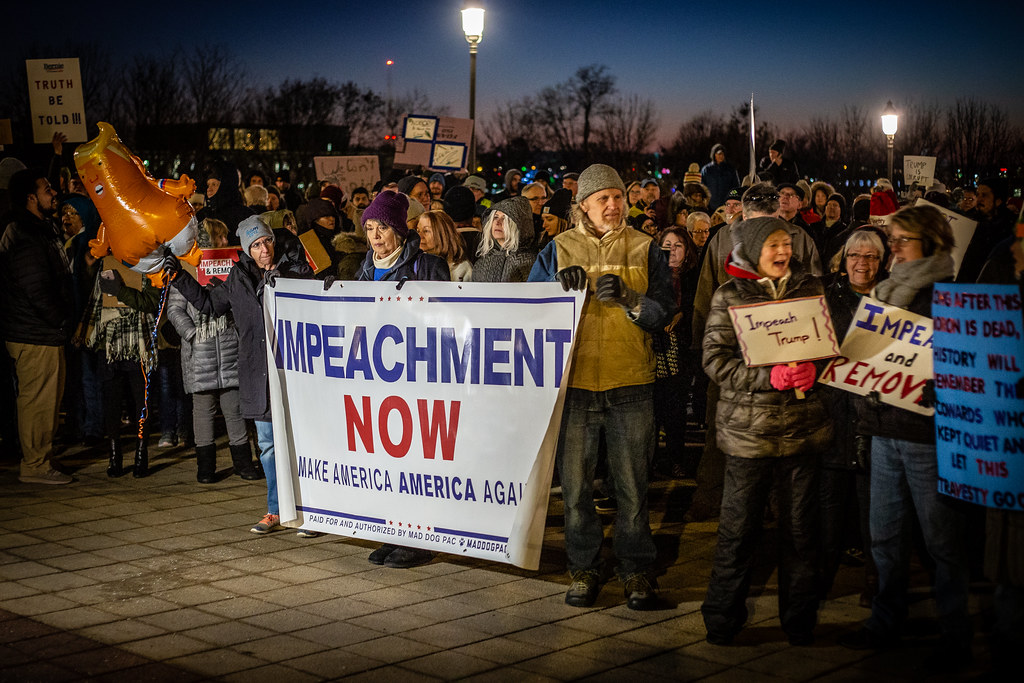 Image: Impeachment rally. Photo courtesy of Creative Commons.
