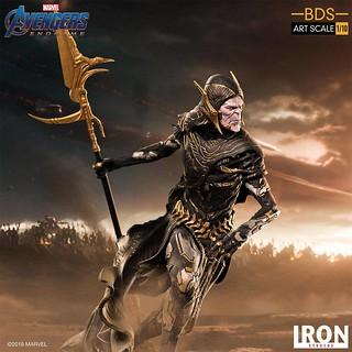 Iron Studios Battle Diorama 系列《復仇者聯盟:終局之戰》亡刃 黑暗教團 Corvus Glaive Black Order 1/10 比例決鬥場景雕像