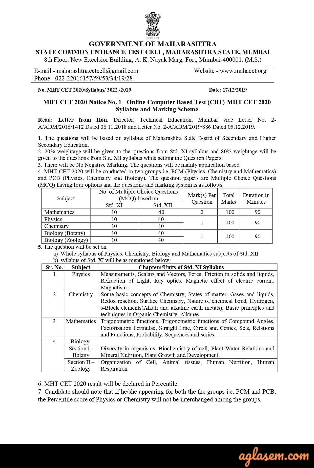 Mht Cet 2020 Admit Card Available New Exam Date Aglasem Admission