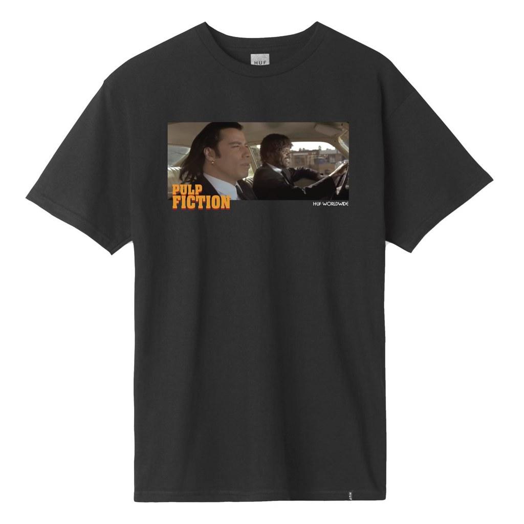 極致的黑色幽默,《黑色追緝令》25 週年紀念!HUF × Pulp Fiction 多款《黑色追緝令》主題短T、帽T、外套登場~