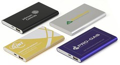 Large slim power banks logo printed
