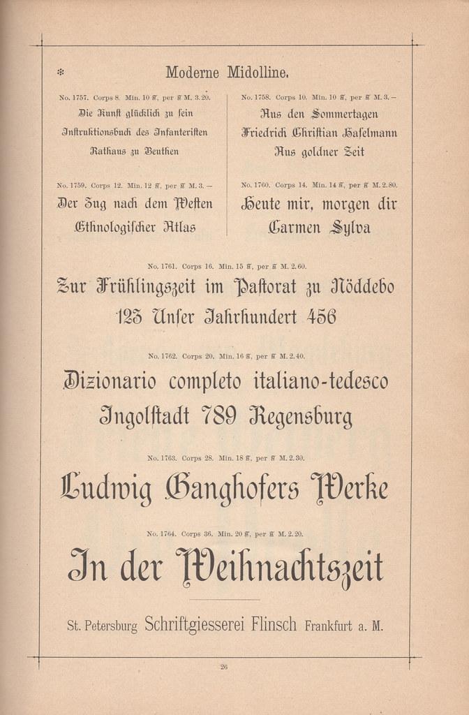 Flinsch's Moderne Midolline typeface