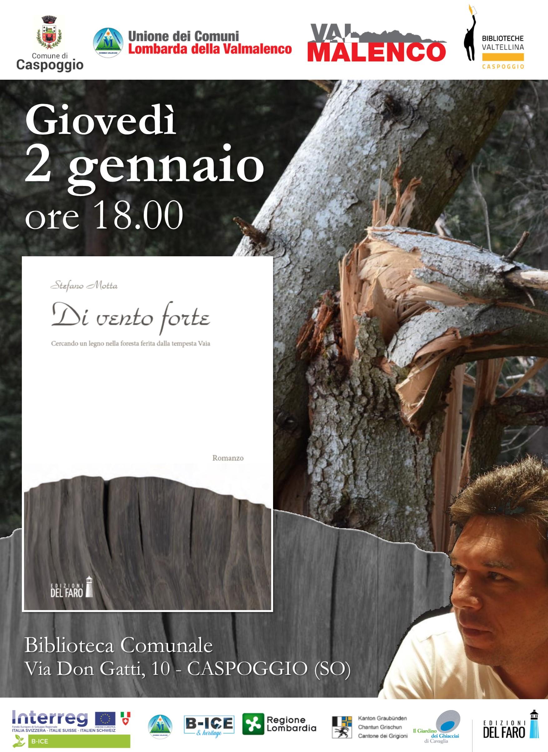 Stefano Motta Di vento forte Biblioteca Caspoggio SO