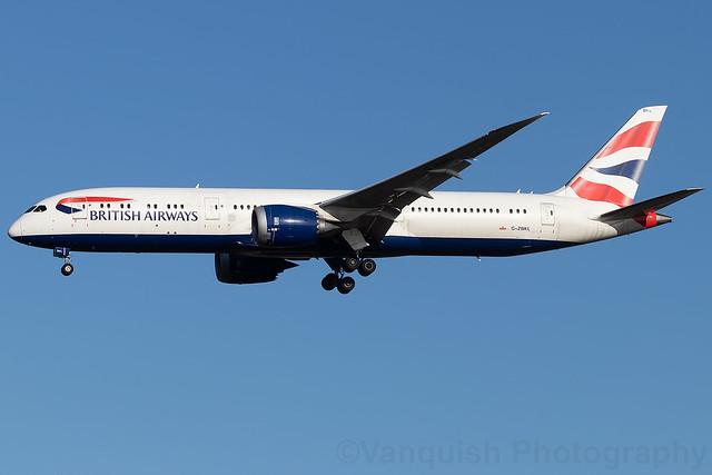 G-ZBKL British Airways B787-9 Dreamliner London Heathrow