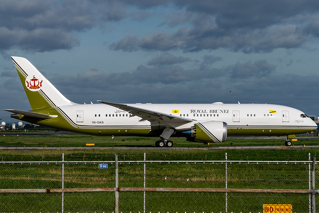 Brunei Government (Sultan's Flight) - Boeing 787-8(BBJ) Dreamliner / V8-OAS @ Manila