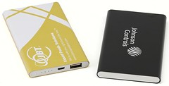 Logo branded power banks printed full surface