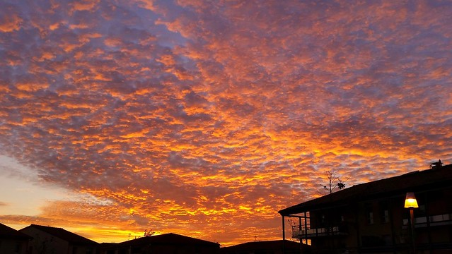 Beautiful sunset over my roof