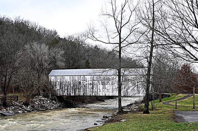 Covered Bridge crossing Locust Creek