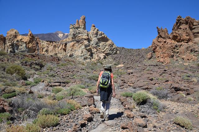 Walking route, Roques de Garcia, Tenerife