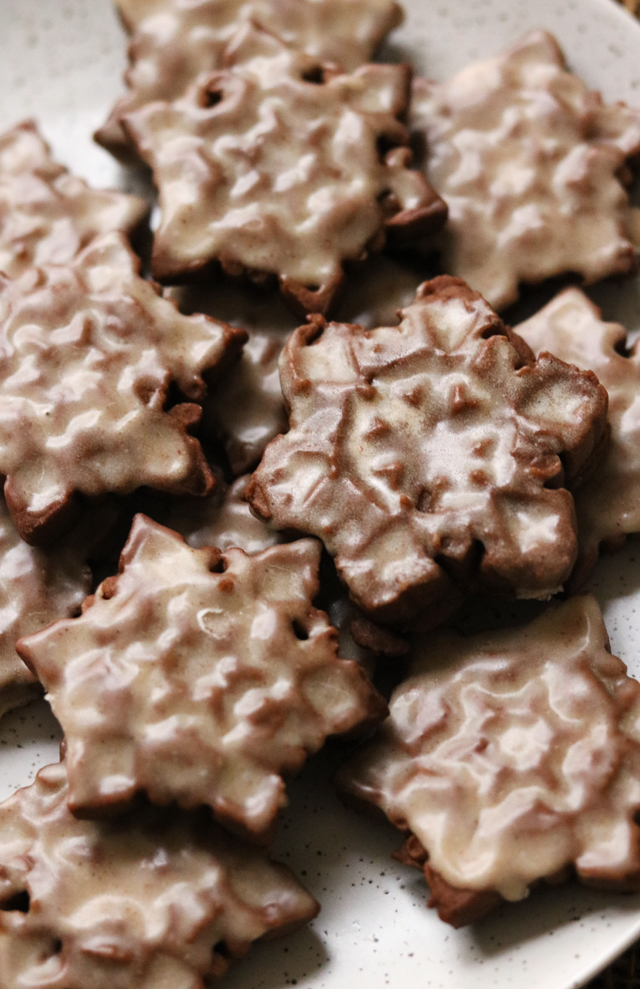 Gingerbread Tiles with Spiced Buttered Rum Glaze