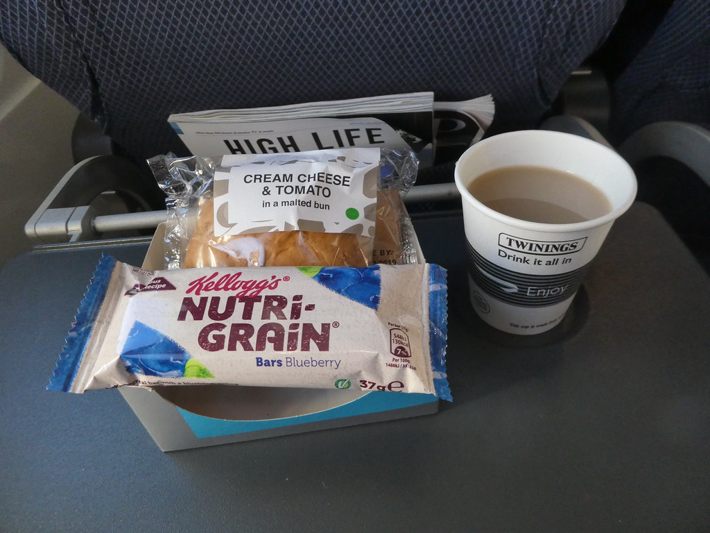 Snack served on BA flight between London and Moscow
