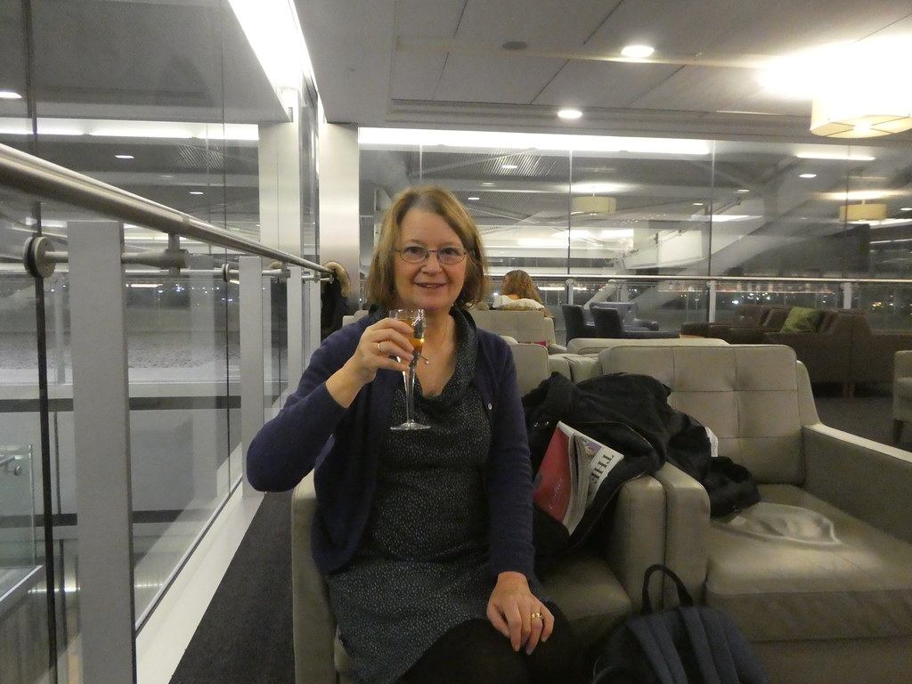 Champagne n the BA Galleries South Lounge, Heathrow Airport