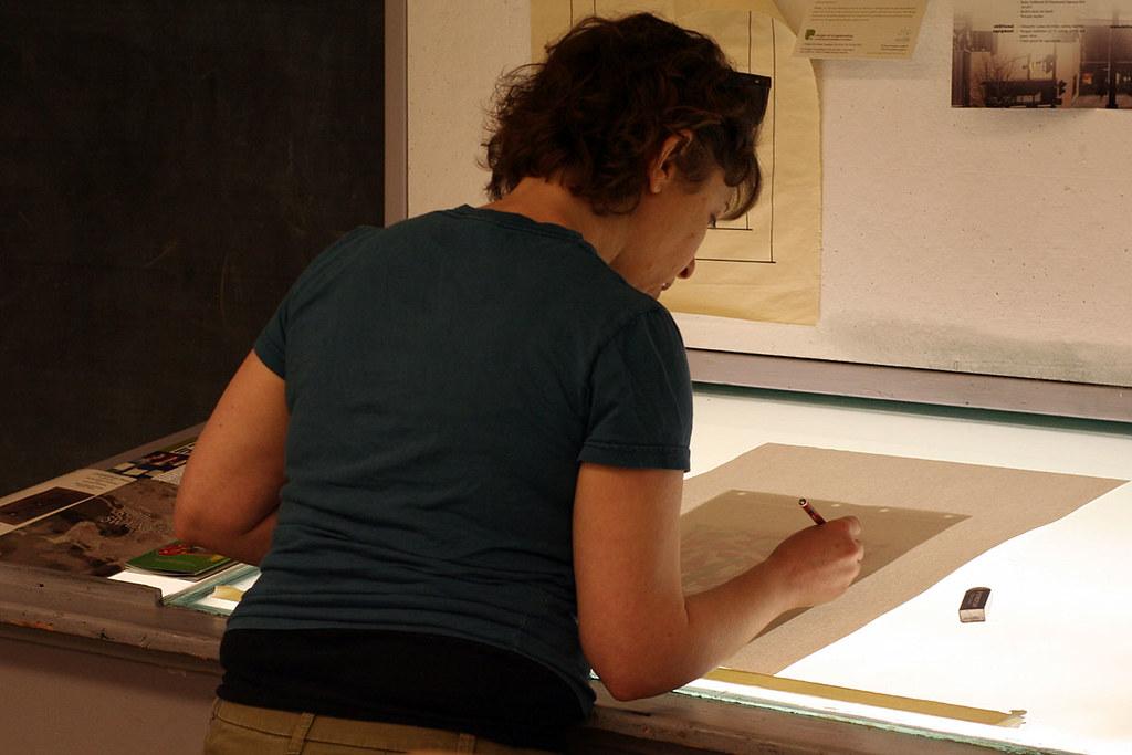 light-table work