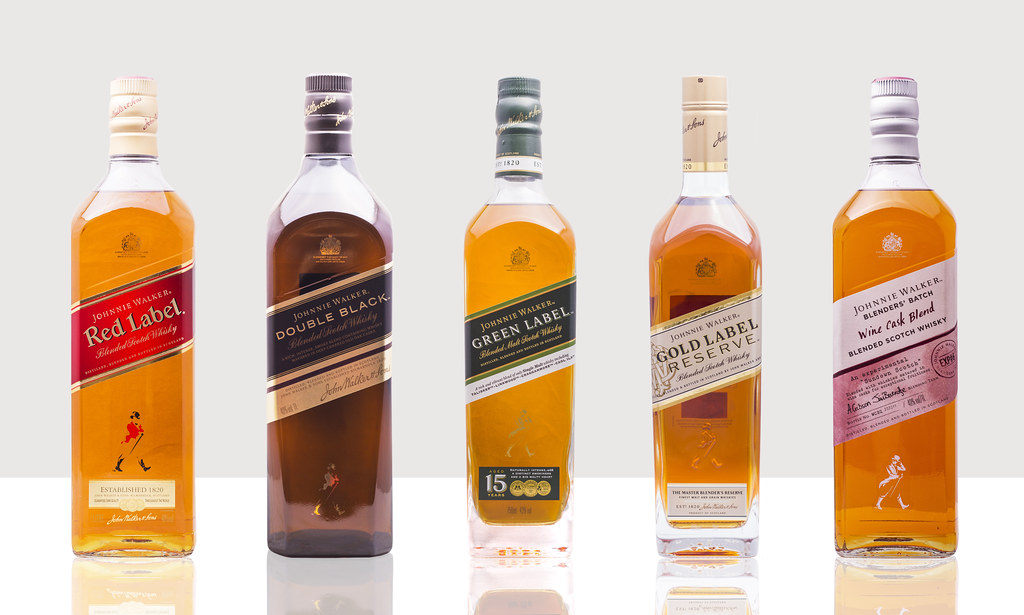 Johnnie Walker Scotch Family on white | 1/160 sec; f/8; ISO … | Flickr