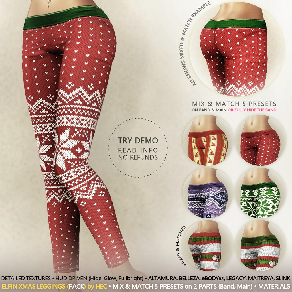 HEC (Ad) • ELFIN Christmas Leggings PACK