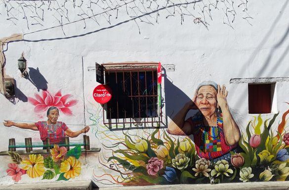 DSC00512GuatemalaPanajachelLagoDeAtitlanSanJuanLaLagunaMuurschildering
