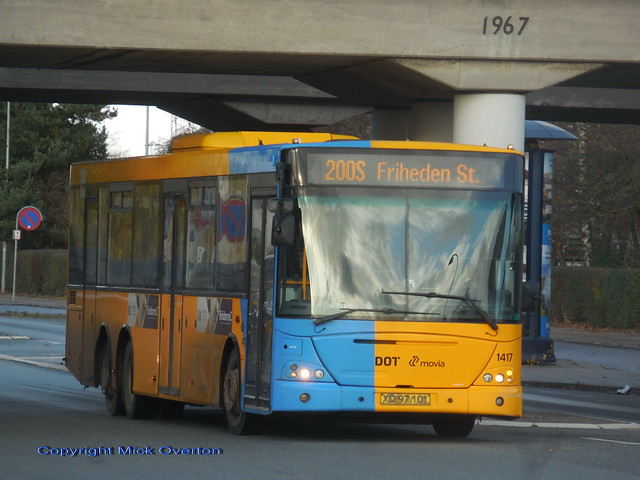 Friheden station - 2008 VDL SBF4000 ARRIVA 1417 6 days before it worked in service for the last time