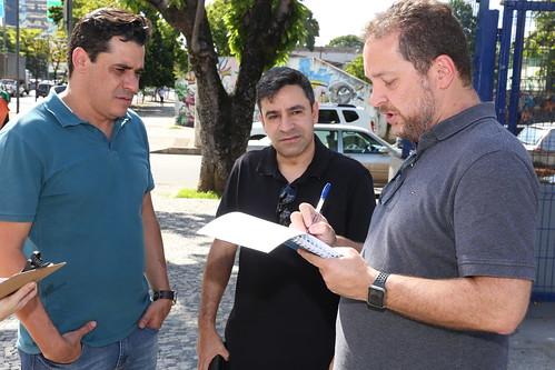 Visita técnica para verificar problemas na sinalização horizontal provisória na Avenida do Contorno - Comissão de Desenvolvimento Econômico, Transporte e Sistema Viário