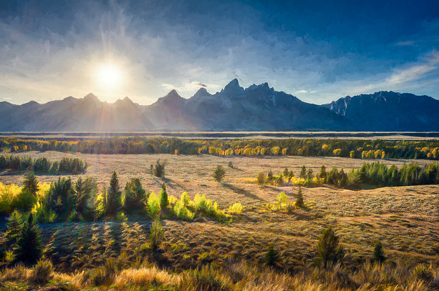 Teton View - Textured HDR